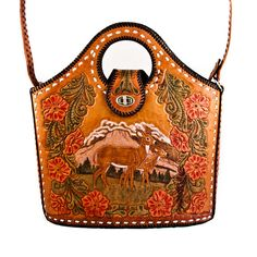 Vintage Purse Bag Hand Tooled Leather by goodmerchants on Etsy, $250.00