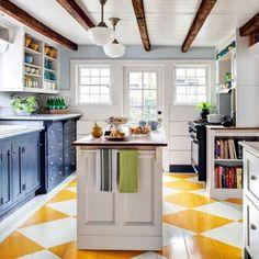 Painted Floors- Cool Tricks for Painted Wood Floors
