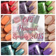 OPI Hawaii Spring 2015 swatches via @alllacqueredup