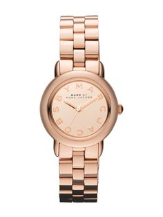 Women's Round Rose-Tone Watch