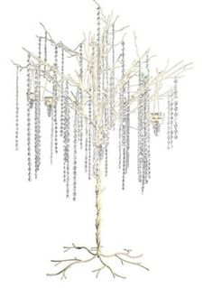 Gatsby wedding twinkle lights hanging from the branches