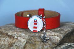"""Armbänder - Lederarmband """"Leuchtturm"""" - ein Designerstück von DaiSign bei DaWanda"""