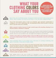 What your clothing colors say about you - #Clothes, #Color, #You
