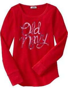 Girls Waffle-Knit Tees | Old Navy