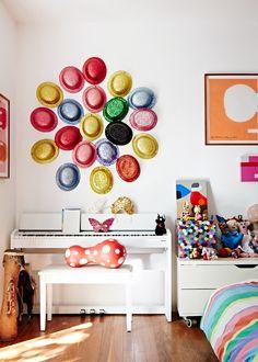 Decoração contemporânea e colorida