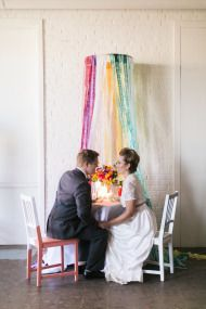 Tart Event Co- Colorful Wedding Inspiration with Vibrant Rainbow Hues - Style Me Pretty