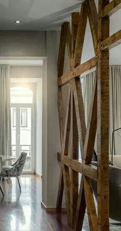 Cool room divider. My husband can build anything.