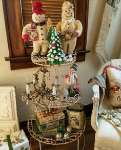 Sing We Now Of Christmas: Holiday Music Room Tour!!! Bebe'CTBelle!!! I love these Antique and Vintage Christmas Ornaments and Decorations!!!