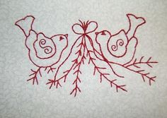 Needles, Thread, and Hooks: Redwork: Winter Twitterings