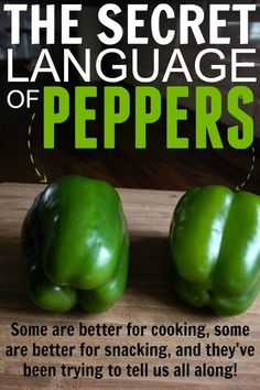 Great tip! I didn't know that peppers with different shapes were better for different recipes!