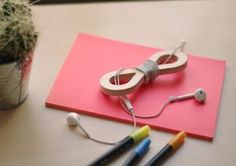 Wood Cable Twisters - headphones or cables Twisters, Cable Organizer, Bubbles, Headphones, Deco, Wood, Kids, Design, Madeira