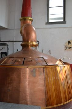 Taken during an August Schell Brewery tour in New Ulm, Minnesota - the old copper brew kettle is a mainstay subject of brewing beer years ago.