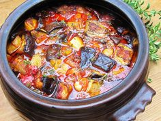 This recipe is a childhood favourite of mine. It's a traditional Bulgarian dish called Imam Bayildi. It is a vegetable eggplant-based...