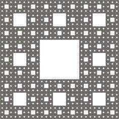 An example of a sierpinski carpet design « « Ratta Tattoo Hyperbolic Geometry, Fractal Geometry, Fractal Art, Sacred Geometry, Fractals In Nature, Foundation Online, Math Magic, Fractal Patterns, Crafts Beautiful