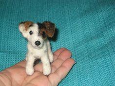 Needle Felted Dog / Custom Miniature Sculpture of von GourmetFelted, $275.00