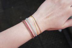 DIY: Delicate Thread Bracelets