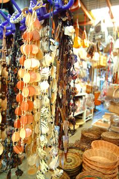 This market in Makati City, Philippines shows a small example of the local craft items for which the Philippines is famous.