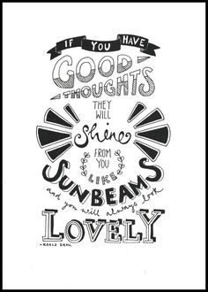 Limited edition black and white typography print - Sunbeams. £12.00, via Etsy.