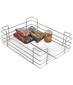 Lotus Kitchen Solutions Mirror Finish Plain Basket - 15 X 6 Lotus Kitchen, Kitchen Organization, Organize, It Is Finished, Basket, Mirror, Modern, Trendy Tree, Kitchen Storage