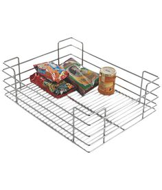 Lotus Kitchen Solutions Mirror Finish Plain Basket - 15 X 6