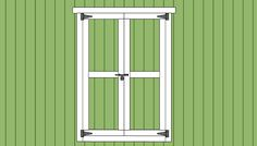 Double Shed Door Plans | Free Outdoor Plans - DIY Shed, Wooden Playhouse, Bbq, Woodworking Projects