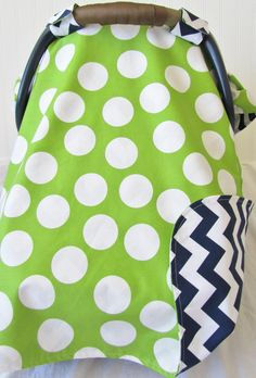 Baby Car Seat Cover Canopy for boy or girl in by ChicMamaCovers