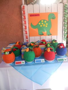 Favors at a Dinosaur Party #dinosaurparty #favors dollar tree has adorable stuffed Dino's we could use!!!
