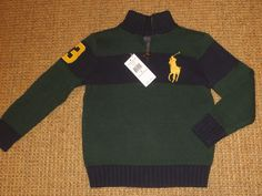 POLO RALPH LAUREN  BOY'S  BIG  PONY  SWEATER  SIZE 5   4 - 5  YEARS  $69 TAG NEW #PoloRalphLauren #Pullover