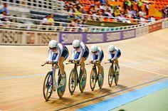 GB's women's team pursuit team Cali 2014