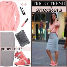 A fashion look from August 2015 featuring J.Crew t-shirts, Linea skirts and Saucony Originals athletic shoes. Browse and shop related looks.