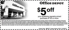 Get $5 OFF Office Depot Printable Coupon