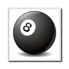 """#8 Pool Ball - 12 Inch Ceramic Tile by Florene. $22.99. High gloss finish. Clean with mild detergent. Construction grade. Floor installation not recommended.. Image applied to the top surface. Dimensions: 12"""" H x 12"""" W x 1/4"""" D. #8 Pool Ball Tile is great for a backsplash, countertop or as an accent. This commercial quality construction grade tile has a high gloss finish. The image is applied to the top surface and can be cleaned with a mild detergent."""