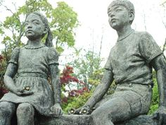 Statues at Peace Park in Nagasaki. Being there was one of the most emotional days of my life.