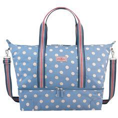 Button Spot Foldaway Double Decker Travel Bag | Travel & Weekend Bags…