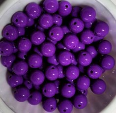 100 10 mm  Purple Beads BUBBLEGUM  SALE by PegsClayGround on Etsy