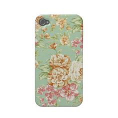 Shabby Chic Roses Iphone 4 Case-mate Case by Girly Template