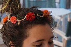 Matala flower hair crown made from natural Raffia