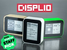 DISPLIO is a small highly customizable WiFi display that tracks and notifies you on everything that is important to you.