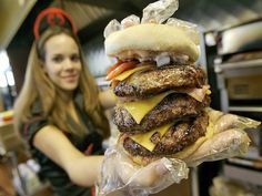 Read the article.  A woman passed out while eating this hamburger.  It must have been the gluten in the bun!