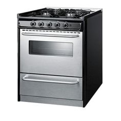 Summit Appliance 30 in. 3.7 cu. ft. Slide-In Gas Range in Stainless Steel-TNM21027BFRWY - The Home Depot