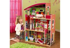 Designer Dollhouse with Furniture