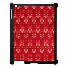 Love Through Design 'Passion' Red Hearts iPad Case