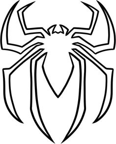 Spiderman Logo Coloring Pages Spiderman Face, Spiderman Drawing, Spiderman Coloring, How To Draw Spiderman, Spiderman Craft, Spiderman Cookies, Spiderman Spiderman, Fête Spider Man, Spider Man Party