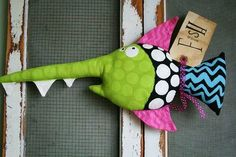 Here Fishy Fishy . FABIAN by buttuglee on Etsy. Sewing Toys, Sewing Crafts, Sewing Projects, Sewing Stuffed Animals, Stuffed Toys Patterns, Felt Crafts, Diy And Crafts, Arts And Crafts, Softies
