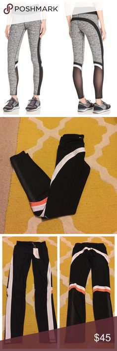 🎉Colorblock leggings with mesh insert🎉 These black, pink and white leggings with it's colorblocking detail will make any girl at the gym or while out errands! The waistband has a back zip pocket white is perfect for holding your car key and license while running!  I know you're asking how can these legging get any better.... how about the mesh back inserts!!!! Brand new with tags. Size xs but can fit a small as well. These legging are NOT Nike just listing for exposure! Nike Pants Leggings