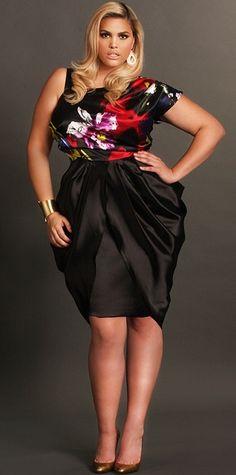 "Plus Size ""Zoe"" Printed Charmeuse Dress image Fashion Mode, Curvy Girl Fashion, Plus Size Fashion, Womens Fashion, Looks Plus Size, Curvy Plus Size, Plus Size Women, Plus Size Dresses, Plus Size Outfits"