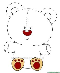 Creative Activities For Kids, Toddler Learning Activities, Book Activities, Preschool Writing, Preschool Worksheets, Preschool Activities, Aluminum Foil Art, Teddy Bear Day, Tracing Sheets