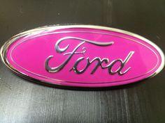 Ford F 250 Die Cut Vinyl Decal Pink Grill Emblem Wrap Fits