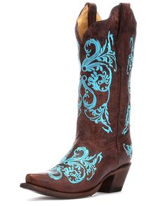 Corral Women's Brown/Turquoise Dhalia Boot - R1193. (I'm shopping for cowgirl boots, so be prepared for my Pinterest feed to start filling up with things like this.)