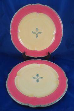 2 Beautiful Pfaltzgraff PISTOULET Jana Kolpen Stoneware Dinner Plates  #Pfaltzgraff